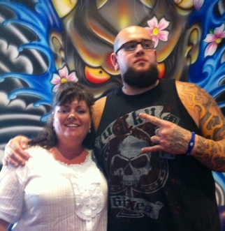 Justin at Vince Neil Ink