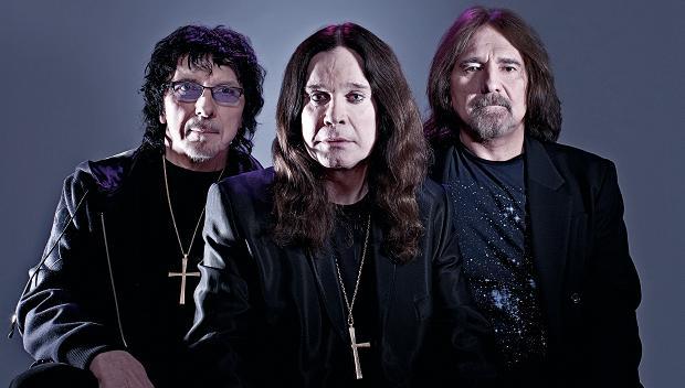 L to R Iommi, Osbourne, Butler