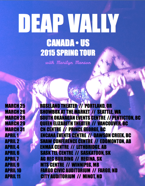 Deap Vally NA tour